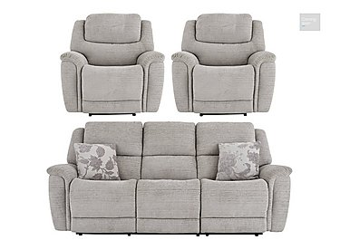 Sheridan 3 Seater Fabric Manual Recliner Sofa & 2 Armchairs  in {$variationvalue}  on FV
