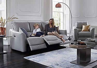 Trilogy 3 Seater Leather Power Recliner Sofa & Armchair in  on FV