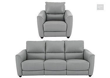 Trilogy 3 Seater Leather Power Recliner Sofa & Armchair  in {$variationvalue}  on FV