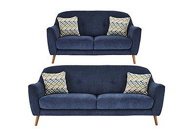 Kurve 3 & 2 Seater Fabric Sofas