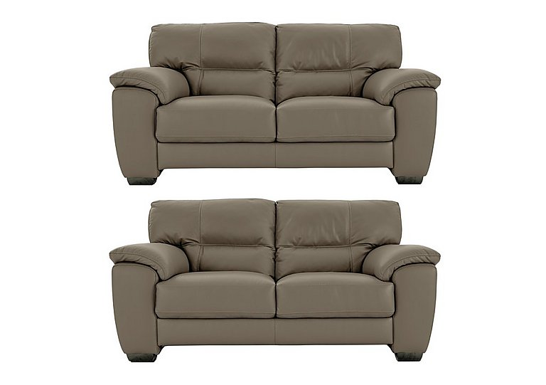 Shades Pair of 2 Seater Leather Sofas