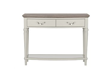 Annecy Console Table in Grey Washed Oak And Soft Grey on FV