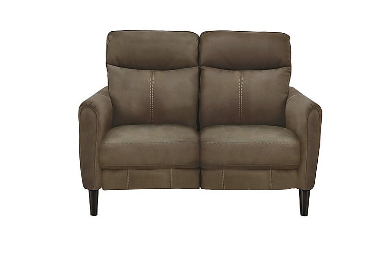 Compact Collection Petit 2 Seater Fabric Recliner Sofa in Bfa-Blj-R04 Tobacco on Furniture Village