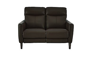 Compact Collection Petit 2 Seater Leather Recliner Sofa in Bv-1748 Dark  Chocolate on FV