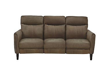 Compact Collection Petit 3 Seater Fabric Recliner Sofa in Bfa-Blj-R04 Tobacco on Furniture Village