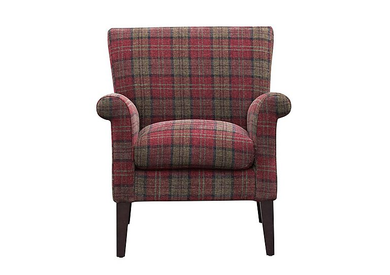 Balmoral Fabric Accent Chair in Claret on FV