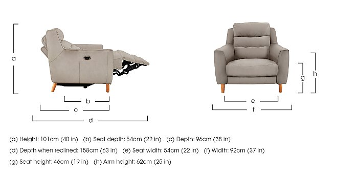 compact Collection Bijoux Fabric Recliner Armchair in  on Furniture Village