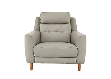 Compact Collection Bijoux Leather Recliner Armchair in Bv-946b Silver Grey on FV