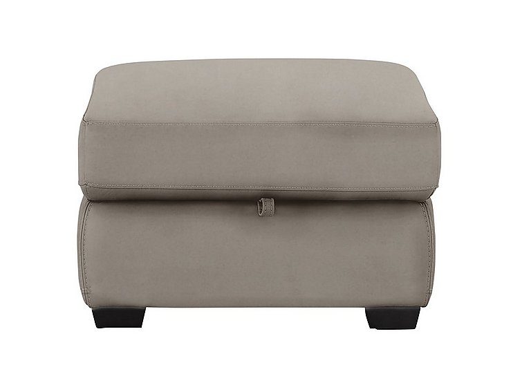 Compact Collection Bijoux Fabric Storage Footstool in Bfa-Blj-R946 Silver Grey on Furniture Village