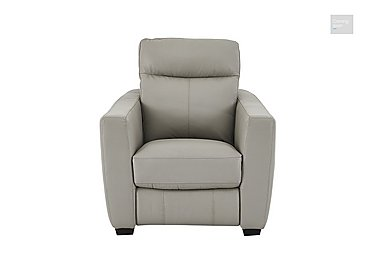 Compact Collection Midi Leather Recliner Armchair  in {$variationvalue}  on FV
