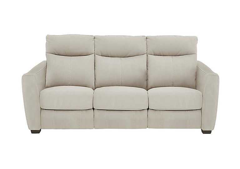 Compact Collection Midi 3 Seater Fabric Recliner Sofa in Bfa-Blj-R20 Bisque on Furniture Village