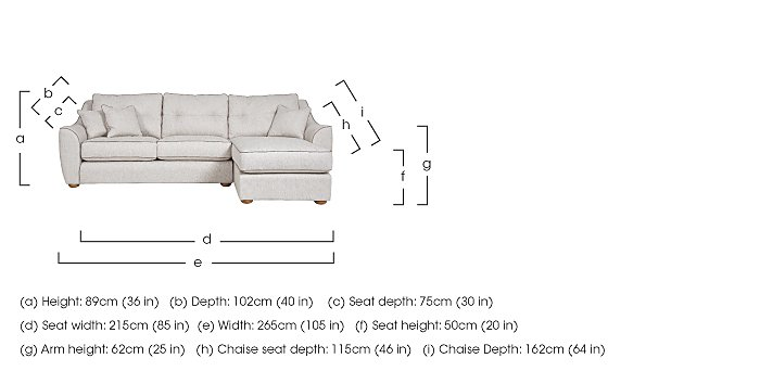 Kensal Fabric Corner Chaise in  on FV