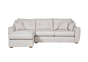 Kensal Fabric Corner Chaise in F44511l Carson Ivory on Furniture Village