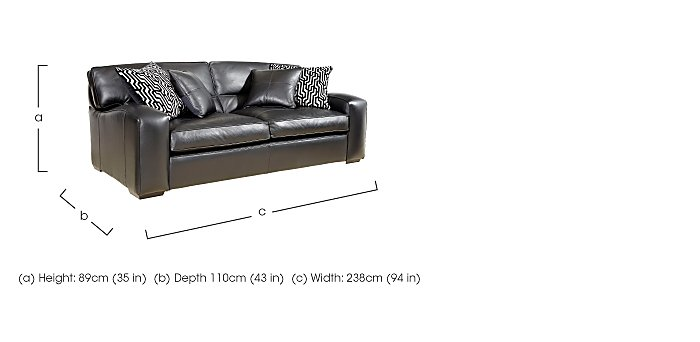 Liberty 4 Seater Leather Sofa in  on FV