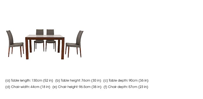Smart Extending Dining Table with 4 Chairs in  on FV
