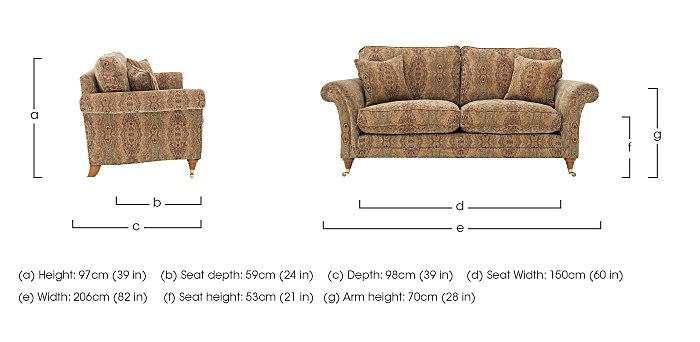 Burghley Large 2 Seater Fabric Sofa in  on FV