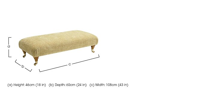 Burghley Fabric Footstool in  on FV