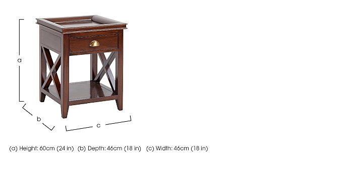 Byron Lamp Table in  on Furniture Village