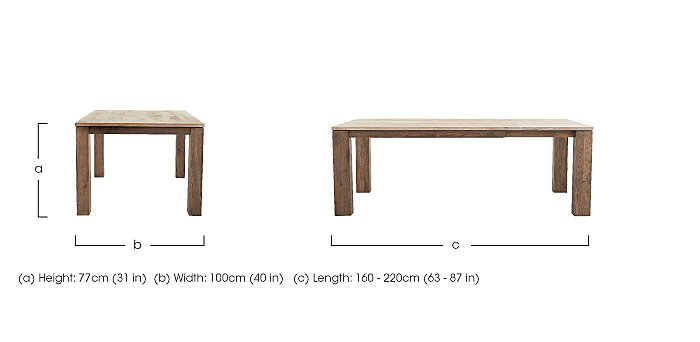 Ludo Extending Dining Table in  on FV