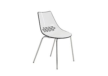 Jam Pair of Dining Chairs in P799-P791 White/Glossy Black on FV