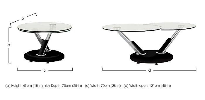 Twist Coffee Table in  on Furniture Village