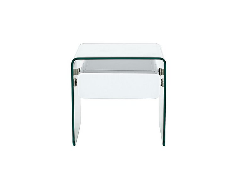 Vidrio Lamp Table in White on FV