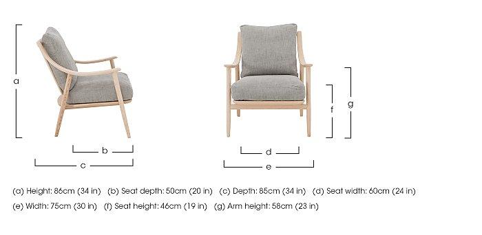 Marino Fabric Armchair in  on Furniture Village