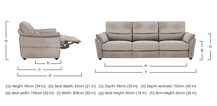 Salamander 3 Seater Fabric Recliner Sofa in  on FV