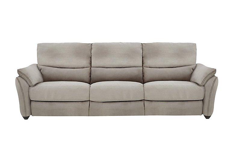 Salamander 3 Seater Fabric Recliner Sofa in Bfa-Blj-R946 Silver Grey on Furniture Village