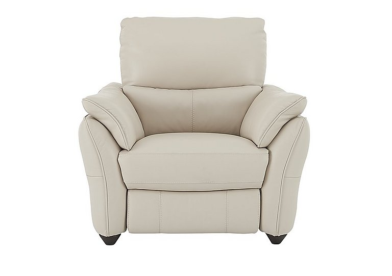 Salamander Leather Recliner Armchair in An-156e Frost on FV