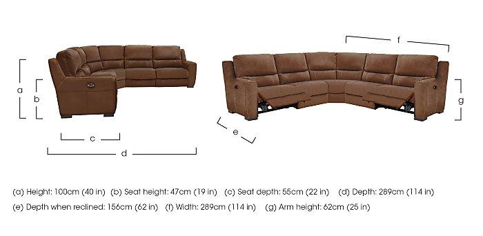 Rodeo Fabric Recliner Corner Sofa in  on Furniture Village
