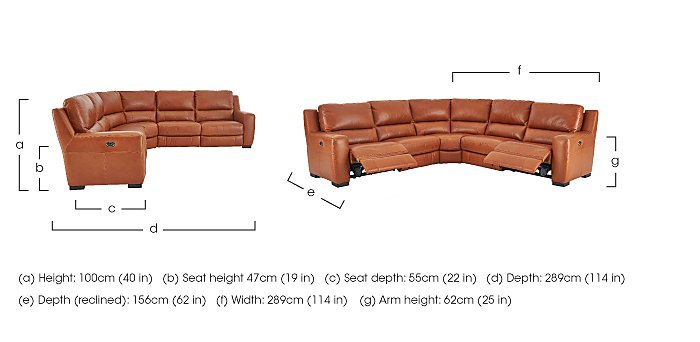 Rodeo Leather Recliner Corner Sofa in  on FV