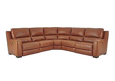 Rodeo Leather Recliner Corner Sofa