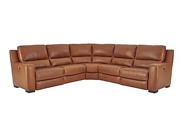 Rodeo Leather Recliner Corner Sofa in Bh-325e Whiskey on FV