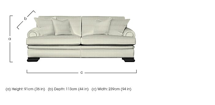 Bardot 3 Seater Fabric Sofa in  on FV
