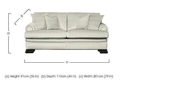 Bardot 3 Seater Fabric Sofa in  on FV