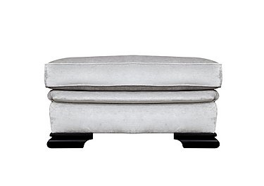 Bardot Fabric Footstool in Dolce Magnesium on Furniture Village