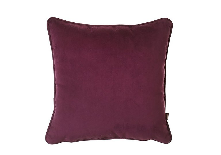 Velour Cushion in Plum on FV