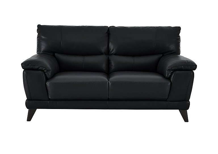 Pacific 2 Seater Leather Sofa in Bv-3500 Classic Black on FV