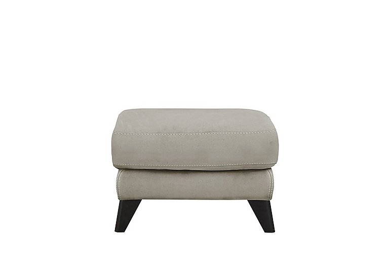 Pacific Fabric Footstool in Bfa-Blj-R946 Silver Grey on FV