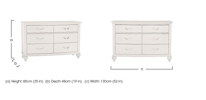 Annecy 6 Drawer Wide Chest in  on FV