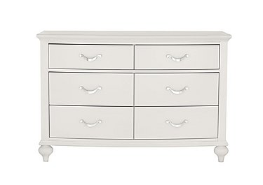 Annecy 6 Drawer Wide Chest in Soft Grey on FV