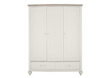 Annecy Triple Wardrobe in Soft Grey And Grey Washed Oak on FV