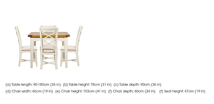 Arles Flip Top Dining Table and 4 Chairs in  on FV