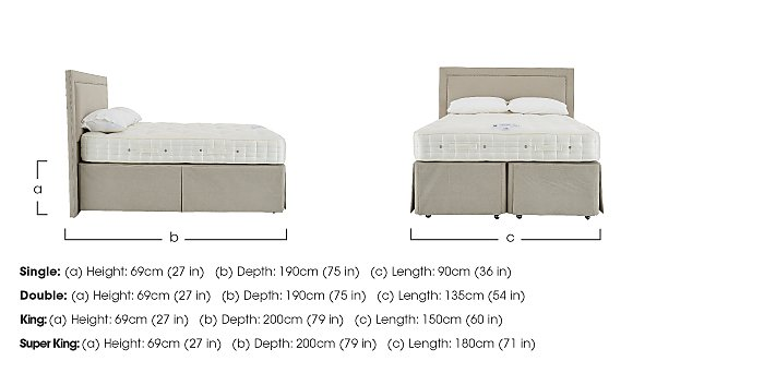 Revive Natural Splendour Pocket Sprung Divan Set in  on FV