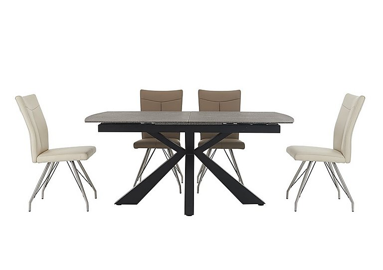 Rodez Dining Table & 4 Aline Chairs