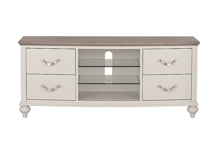 Annecy Entertainment Unit in Grey Washed Oak And Soft Grey on FV