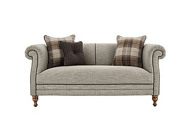 New England Hartford 2 Seater Fabric Sofa in Mrch Lin Cloud Con-Pipe Wo-Ft on FV