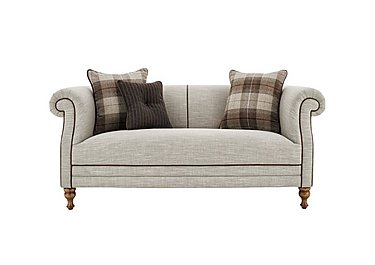 New England Hartford 2 Seater Fabric Sofa in Mrch Lin Wht Sand Con-Pipe Wof on FV