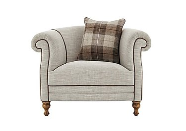 New England Hartford Fabric Armchair in Mrch Lin Wht Sand Con-Pipe Wof on FV
